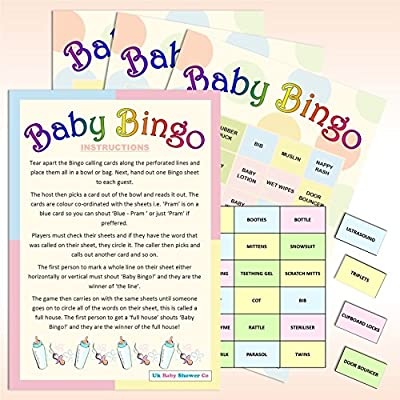 20 Sheet Baby Shower Bingo - Neutral