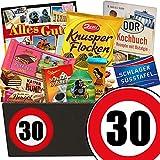 Geschenk zum 30. Geburtstag | Geschenk Schokolade Box | mit Zetti Schlager Süßtafel, Viba Schicht Nougat Stange und mehr | Schokoladen Box