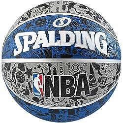 Spalding NBA Graffiti Outdoor Balón de baloncesto, Unisex adulto, Azul / Gris, 7