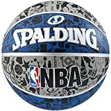 Spalding Ball NBA Grafitti Outdoor, Blau/Grau, 7, 3001551011417