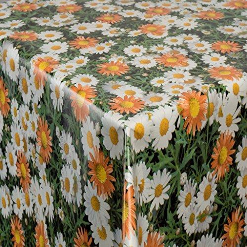 Tischdecke Wachstuch Gartentischdecke rund eckig oval in verschiedenen Größen Meterware Wachstischdecke Blumen