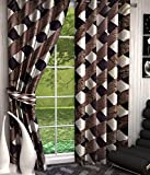 #10: Shop 24 decor Polyester Brown color Floral Curtain