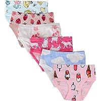 Kidear Mutande Corte da Bambine Piccole in Cotone Morbido Serie per Bambini (Confezione da 6)
