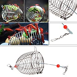 AST Works Aquarium Stainless Steel Shrimp Food Feeding Cage Small Fish Feeder Trap Cage US