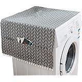 LIOOBO Housse de Protection pour Machine à Laver Réfrigérateur Universel Charge Avant Lave-Linge Sèche-Linge Étanche Motif de