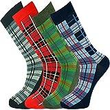 Mysocks Herren Tartan Socken 4 Paar