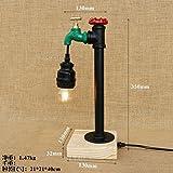 Le bar est décoré de fer lit le vent et l'eau industrielle pipes bois bureau étude 130 lampes*350mm