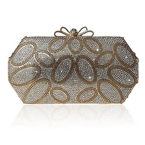 Pacchetto Velcro di Bow tie/Borsa di moda cena/ strass clutch bag-A A