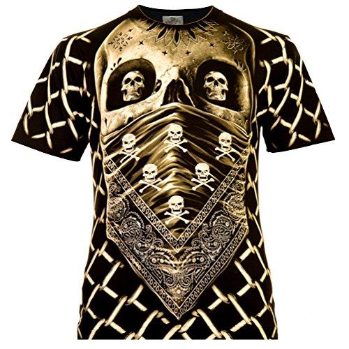 erren T-Shirt Schwarz Gr. 3XL Komplett Bedruckt ()