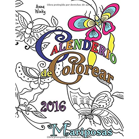 Calendario de Colorear: 2016 Mariposas