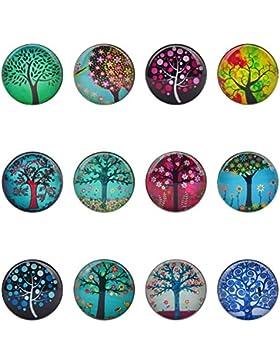 Soleebee Gemischte Wunderbaum Glas 5.5mm Click Buttons Set 12Stk.