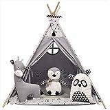 izabell Teepee Teepee Teepee set för barn inomhus utomhus leksakstält indianer med fönster tipi med tillbehör ZOO