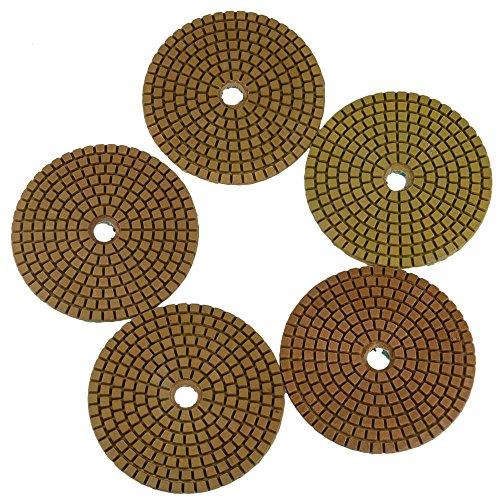 5 pezzi 100mm diamante lucidare bagnato Pad 800# Grit 5