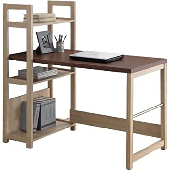 Afydecor Study Table With Vertical Attached Bookshelf