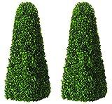 Künstliche formschnittbäume Obelisken Paar von Primrose®