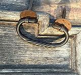 Antikas - Truhen-Griff Schmiedeeisen, Griffe für alte Holztruhe - Truhengriffe wie antik