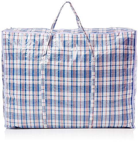 Jumbo 10 Laundry Bags Shopper Zipped Reusable Large Strong Shopping/Storage Bag Zip By Grids London by Grids London