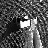 Homovater SUS304 Edelstahl Haken Handtuchhaken Mantelhaken Badezimmer Badezimmerhaken Kleiderhaken Schwerlast Wandmontage Zeitgenössischer Stil Chrom Oberfläche