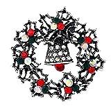 Joyfeel buy Broschen für kleidung Strass brosche Dekoration Kreative Elegante Brosche Legierung Retro Silber Weihnachtskranz Pin Geschenk für Frau Damen
