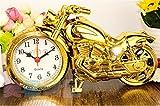 De gama alta sacar el viento de la motocicleta despertador estudiante regalos mobiliario casero apertura movimiento de cuarzo plástico shell tamaño 22X5.5X12CM , 1