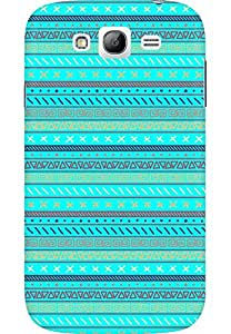 AMEZ designer printed 3d premium high quality back case cover printed hard case cover for Samsung Galaxy Grand Neo GT (Pattern3 Cyan)