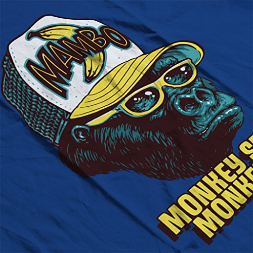 Mambo Monkey See Monkey Do Women's Hooded Sweatshirt Royal Blue