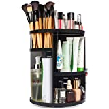 INOVERA (LABEL) Cosmetic Makeup Storage Holder Organizer Adjustable 360 Rotation Box, 23L x 23B x 30H cm. (Black)