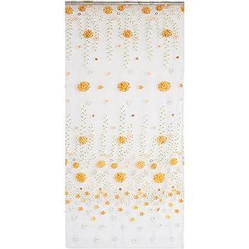 Voilage rideau en voile motif de marguerite paravent pour porte fen tre 200x100cm jaune amazon for Voilage pour porte fenetre