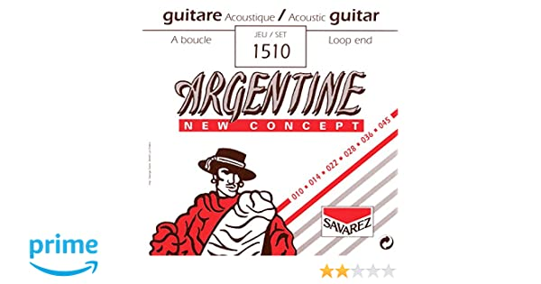 - Saiten für Westerngitarre Savarez Argentine 1510 010-045 Loop End