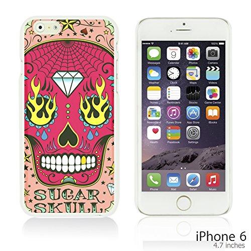 OBiDi - Skull Pattern Hardback Case / Housse pour Apple iPhone 6 / 6S (4.7 inch)Smartphone - Skull With Beard Pink Sugar Skull