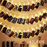 Best Guirlandes - Guirlande Lumineuse Photo 40LED Clips Pile, 40 LED Review