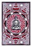 Tagesdecke Wandbehang Indische Buddha in Rottönen