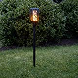 LED Solar-Gartenleuchte Fackel Flame/Flamme, rund   Solarleuchte für Garten, Balkon, Außenbereich, IP44, Dämmerungssensor, bis zu 6 Stunden Leuchtdauer