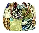 Guru-Shop Bolsa Hippie, Patchwork Comprador, Bolso de Hombro, Unisex - Adultos, Multicolor, Algodón, Tamaño:One Size, 40x40x13 cm, Sadhu Bolsa, la Bolsa Hippie
