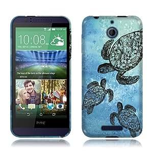 Nextkin HTC Desire 510 Silicone Skin Soft TPU Gel Protector Cover Case - Ocean Sea Turtle