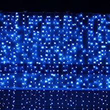 3M 300LEDs LED Fairy String Curtain Lights,Outdoor/Indoor Window Icicle Fairy String Lights Plug Powered for Christmas Xmas Garden Wedding Party Home Bedroom Decoration,Blue