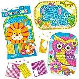 Mosaico animali per Bambini da Creare, Personalizzare ed Esporre come Idea Creativa Estiva (confezione da 4)