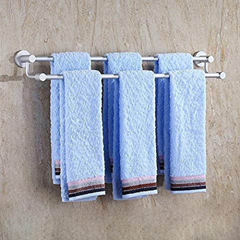 BBSLT-Spazio rack e asciugamano doppio di alluminio, anodizzato Portasciugamani metallici lungo pendenti, semplice solido Portasciugamani , 90cm or