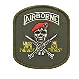 ECUSSON / PATCH BRODE AIRBORNE SKULL AVEC BERET THERMO COLLANT AIRSOFT KZA-E704/442306736