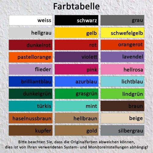 """Wandtattoo, Wandaufkleber """"Essen ist ein Bedürfnis, genießen ist eine Kunst"""" (erhältlich in 30 Farben und 6 Grössen)"""