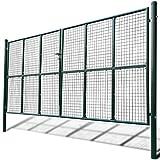 vidaXL Cancello a Rete in metallo recinzione per Giardino 415 x 250 cm / 400 x 200 cm