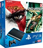 PlayStation 3 - Console PS3 12 GB [Chassis M] con Essentials God Of War 3 ed Essentials Uncharted: Drake's Fortune [Bundle]