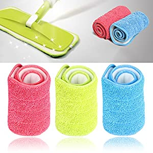 Pindia 1 Pc Floor Cleaning Microfiber Cloth for Spray Mop Removable Washable Cleaning Pad Random Color