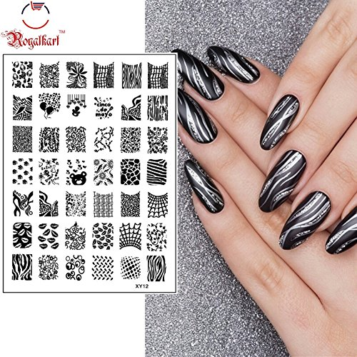 Nail Art Image Printing Plate Polish Stamping Template DIY Tips Design -