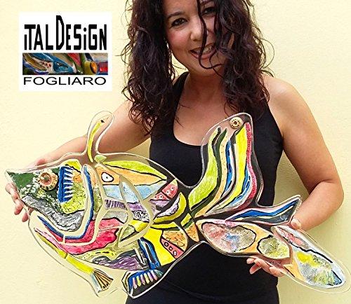 Verzieren Sie mit ART - Keramik und Harz FISH. WALL MÖBEL. MODERN ART UNTERZEICHNET ITALDESIGNFOGLIARO - INTERIORDESIGN -
