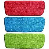Maharsh Microfiber Spray Mop Replacement Head Pads - Set of 3 (Multicolour)