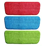 #7: Gion Set of 3pcs Reusable Spray Mop Pads Practical Cleaning Mop Head Pad Washable Mop Head Cloth Flat Spray Mops Pads Household Floor Dust Cleaning Tools