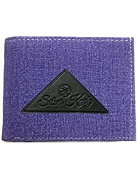 Silver Kartz Men's Brighty Blue Fabricated Genuine Leather Wallet (taj-015)