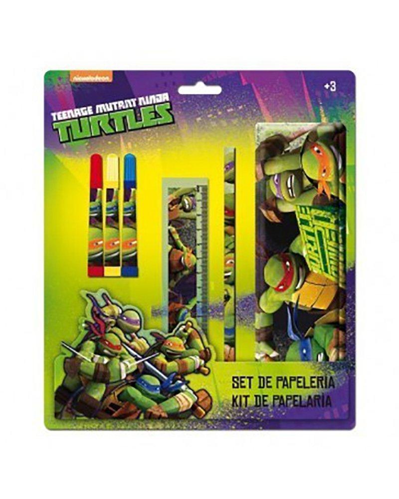 Tortugas Ninja Set de papeleria con Estuche metalico