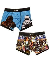 Licence Officielle Super Héro Marvel Ou Star Wars Garçons Paquet De 2 Short Boxer